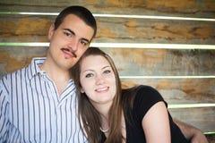 Potomstwo szczęśliwa Para Fotografia Royalty Free