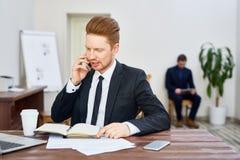 Potomstwo szef Pracuje w biurze zdjęcie royalty free