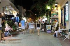 POTOS, ISLA de THASSOS, GRECIA - 24 de julio de 2014 tiros de la calle en la noche con la exposición larga Fotos de archivo