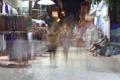 POTOS, THASSOS ISLAND, GREECE - 24 JULY 2014 Street shots in the night with long exposure Stock Photo
