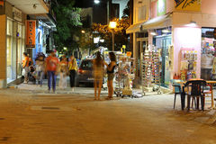 POTOS, THASSOS ISLAND, GREECE - 24 JULY 2014 Street shots in the night with long exposure Royalty Free Stock Photo