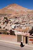 Potosi, Bolivia. The Cerro Rico, a mountain in the town of Potosi in the south of Bolivia, the richest silver mine of all times stock images