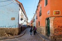 Potosi, Bolivia street scene Royalty Free Stock Image