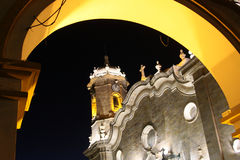 Potosi Cathedral by night Stock Images