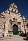 Potosi church, Bolivia. The colonial church of San Bernardo, Potosi, Bolivia stock image