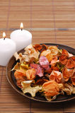 Potpourri. And candle of good smell stock photo