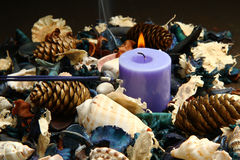 Potpourri. Close-up photo of colorful scented potpourri stock photos