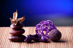 Potpourri arranged zen style Stock Photography