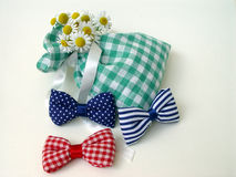 Potpourri bag & bow-ties. Filled with fragrances & herbs Royalty Free Stock Images