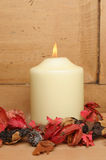 Potpourri and candle Stock Photography