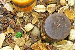 Potpourri candle Stock Images