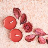 Potpourri and candles Royalty Free Stock Photo