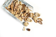 Potpourri in clear glass container Royalty Free Stock Image