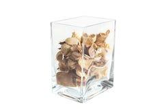 Potpourri in contenitore di vetro trasparente Immagine Stock