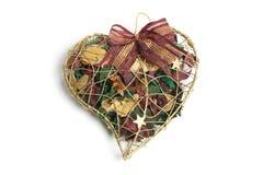 Potpourri em caixa Heart-Shaped foto de stock