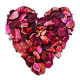 Potpourri heart Royalty Free Stock Photos