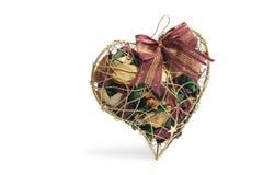 Potpourri in Heart-Shaped Box Royalty Free Stock Photo