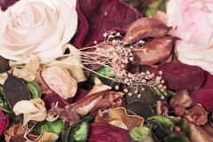Potpourri rose petals Stock Photos