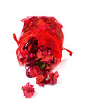 Potpourri sachet isolated on a white background Royalty Free Stock Image