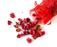Potpourri sachet isolated on a white background Royalty Free Stock Photography