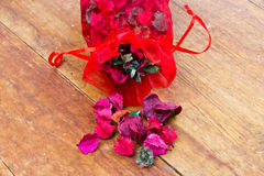 A potpourri sachet on table Royalty Free Stock Photo