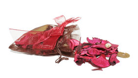 A potpourri sachet  on a white background Stock Photo