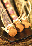 Potpourri in test tubes Stock Image