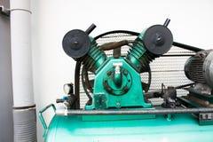 Potrójna butla Odwzajemnia Lotniczych kompresory na przemysle Fotografia Stock