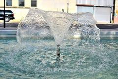 Potrójna fontanna przy JFK zabójstwem Pamiątkowy Dallas, TX Pic 2 fotografia royalty free