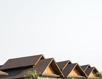 Potrójny Dwuokapowy gontu dach Obraz Royalty Free