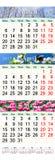 Potrójny kalendarz dla Marcowego Kwietnia 2017 z obrazkami i Maja Zdjęcia Stock