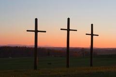 Potrójny krzyż Fotografia Royalty Free