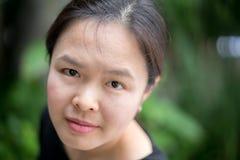 Potrait asiático da mulher foto de stock