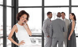 Potrait of a beautiful Business woman on the phone Royalty Free Stock Photo