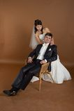 Potrait of bride and groom Stock Photography
