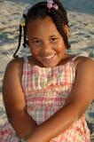 Potrait da menina do americano africano fotografia de stock royalty free