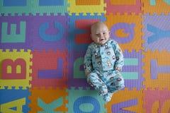 Potrait de bébé garçon Images libres de droits