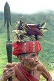 Potrait de guerrier très vieux d'Ifugao de Philippin Photos stock
