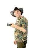 Potrait dell'uomo isolato Fotografia Stock Libera da Diritti