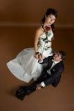 Potrait der Braut und des Bräutigams Stockfotografie