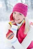 Potrait di inverno della donna fotografie stock libere da diritti