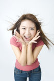Potrait of a happy asian girl. Photo Stock Image