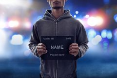 Potrait mężczyzna mugshot przestępca obraz stock