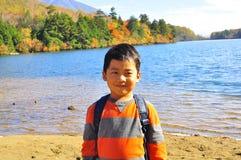 Potrait of a Malay boy. The portrait of a Malay boy taken at Yunoko Lake, Tochigi,  Japan Royalty Free Stock Images