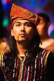 A potrait of a man wearing Malaysia traditional costume royalty free stock photography