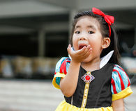 Potrait princes dress with cute asian girl Royalty Free Stock Photo