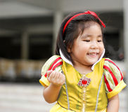Potrait princes dress with cute asian girl Stock Image