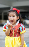 Potrait princes dress with cute asian girl Stock Images