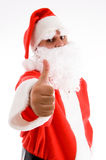 Potrait of santa clause. Portrait of Santa clause on an isolated white background stock photo
