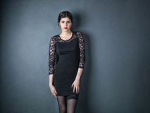 Potrait of a elegant woman royalty free stock images